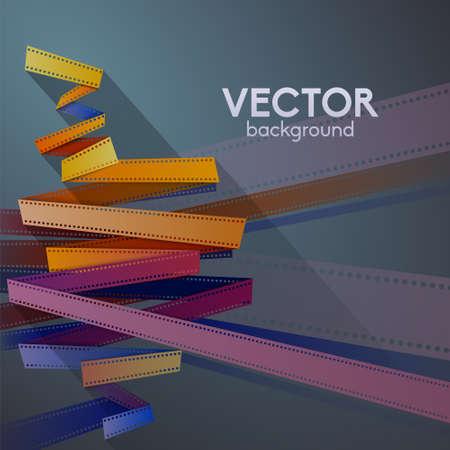 cinema film: Film strip vector background