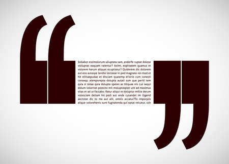 quotation marks: Your text with quotation marks isolated on white background.