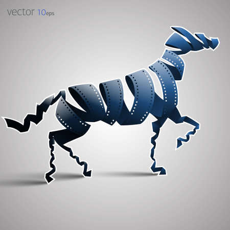 horse made of filmstrip