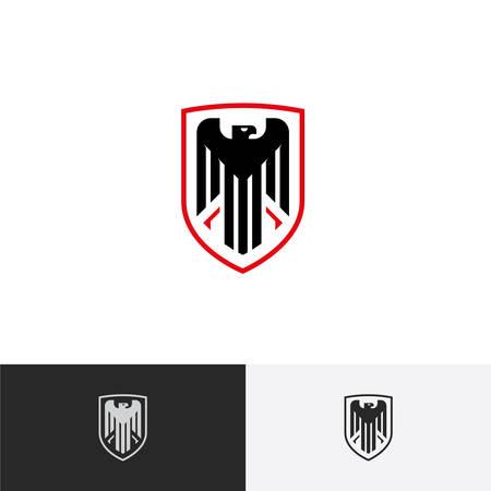 eagle flying: Eagle logo, Eagle in a Shield logo, Protection logo, Vector logo template.