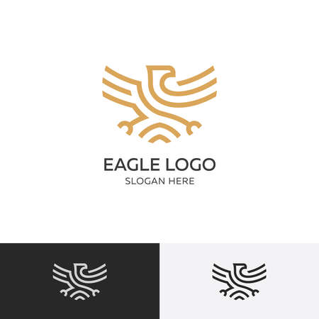 Gold eagle concept - vector illustration template 矢量图像