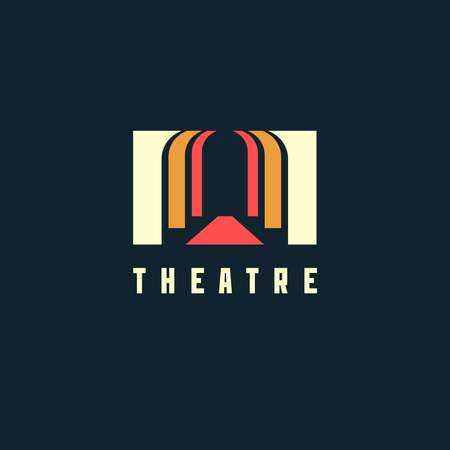 Theater concept - vector illustration