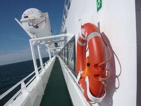 �quipement de securit�: Marine Safety Equipment Banque d'images