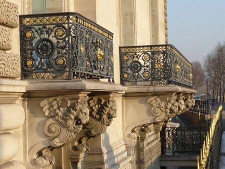 Two Balconies Stock Photo