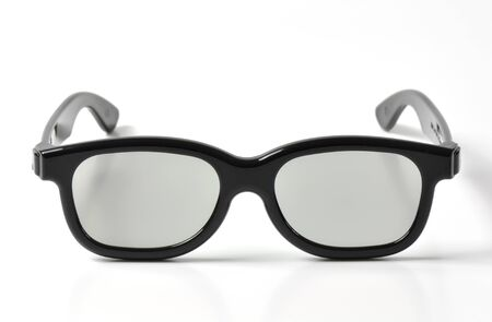 3D glasses on a white background photo