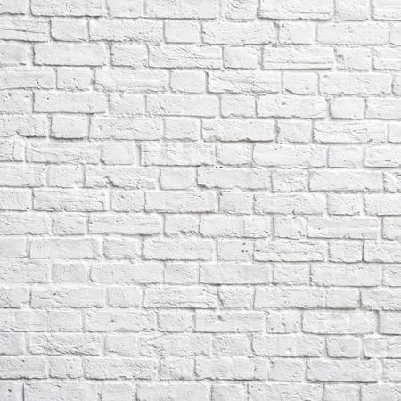 brique: Mur de brique blancs, parfait comme arri�re-plan, photographie carr� Banque d'images