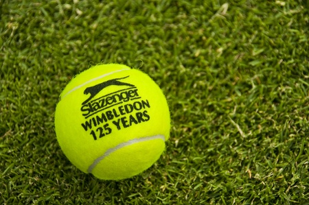 LONDON - JUNE 30: The official Slazenger tennis ball celebrate 125 years of  Wimbledon Championships, June 30, 2011 in London.
