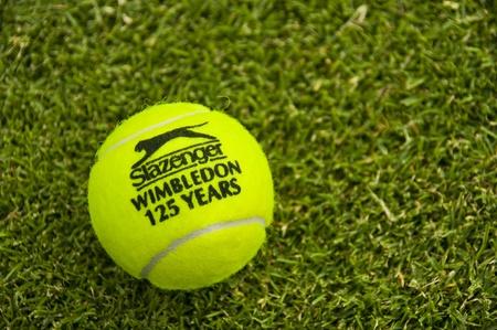 LONDON - JUNE 30: The official Slazenger tennis ball celebrate 125 years of  Wimbledon Championships, June 30, 2011 in London.  Stock Photo - 9890502