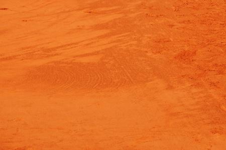 Closup of a clay tennis court at Roland Garros, Paris, France