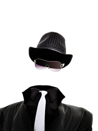 invisible: An invisible man isolated on white background