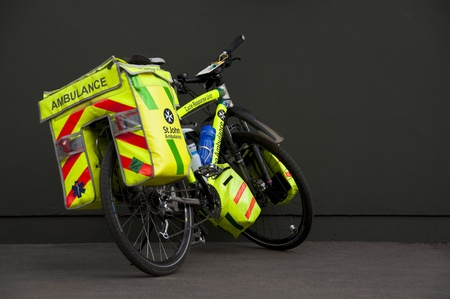 safety: Saint John ambulance bicycle in England Editorial