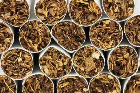 Stack of cigarettes, macro photography Stock Photo - 9948194