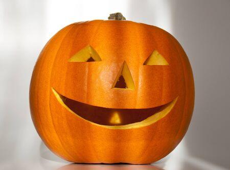 Halloween lantern on a white background Stock Photo - 10091216