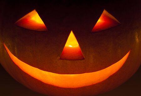 Closeup of a Halloween lantern in the night Stock Photo - 10091210