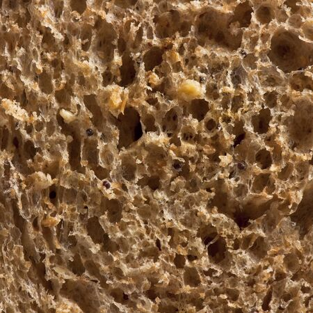 Wholemeal bread closeup, square photography photo