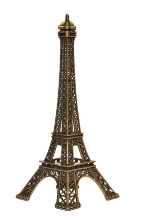 Eiffel Tower replica isolated on a white background