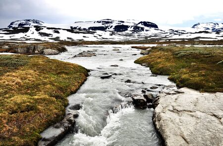 A torrent in Hordaland, Norway Stock Photo