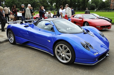 LONDON - SEPTEMBER 04: A Pagani Zonda F at Chelsea AutoLegends, on September 04, 2011 in London. The pagani Zonda F was produced from 2005 to 2011.