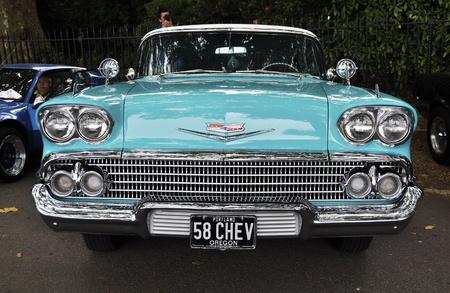 chevrolet: LONDON - SEPTEMBER 04: A vintage Chevrolet at Chelsea AutoLegends, on September 04, 2011 in London. Editorial