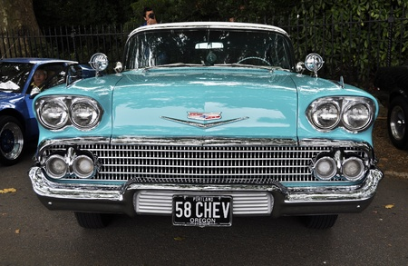 LONDON - SEPTEMBER 04: A vintage Chevrolet at Chelsea AutoLegends, on September 04, 2011 in London. Editorial