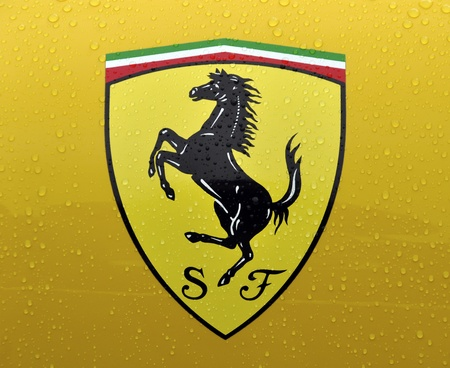 London September 04 The Cavallino Rampante Symbol Of Ferrari