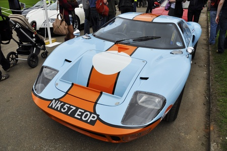 LONDON - SEPTEMBER 04: A Ford GT40 at Chelsea AutoLegends, on September 04, 2011 in London. The Ford GT40 won the 24 Hours of Le Mans in 1966,1967,1968 and 1969. Stock Photo - 10636371