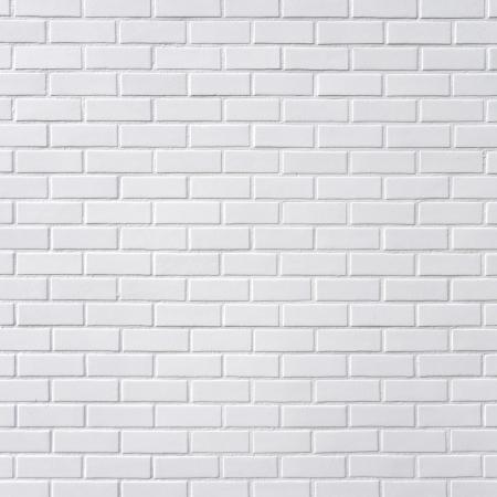 Blanca pared de ladrillo, la plaza de fotografía Foto de archivo