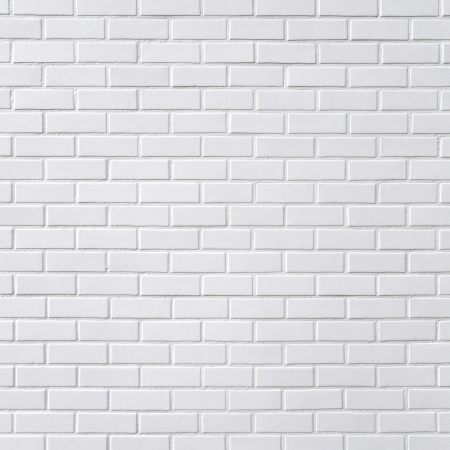 White brick wall, square photography Stock Photo