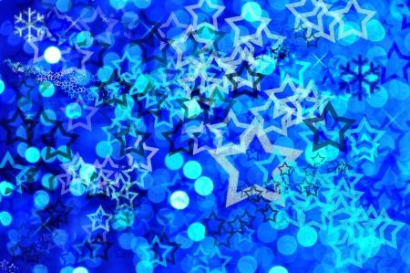 Blue festive background with stars photo