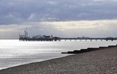 brighton beach: The Brighton Pier in England, UK Stock Photo
