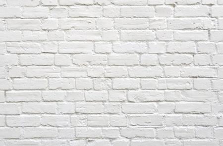 Witte bakstenen muur achtergrond Stockfoto