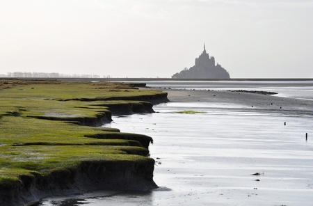 The Mont-Saint-Michel as seen from the Roche Torin photo