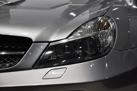 Sports car headlight Foto de archivo