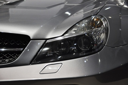 headlights: Sports car headlight Stock Photo