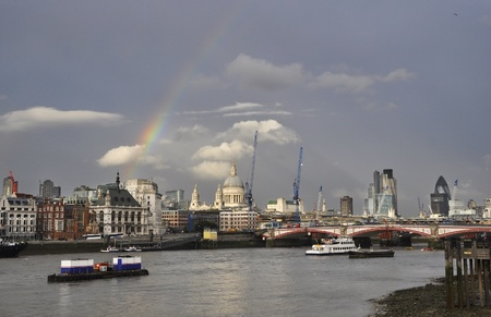 A rainbow over London, England, UK Stock Photo - 11930285