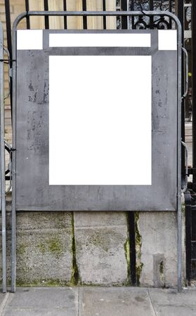 Official election billboard with copy space, in Paris, France photo