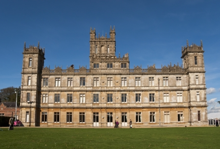 abbey: NEWBURY, UK - OCTOBER 13: Highclere Castle is the main setting for the ITV period drama Downton Abbey, on October 13, 2011 in Newbury