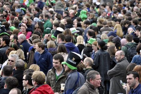 LONDON - MARCH 18: The crowd during the St Patrick Stock Photo - 12690692