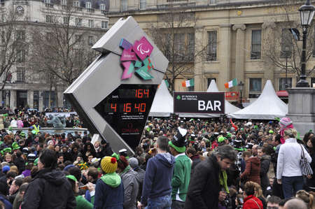 LONDON - MARCH 18: The crowd during the St Patrick