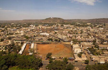 Bamako, Mali - February 14, 2012: Aerial view of Bamako capital of Mali Editorial