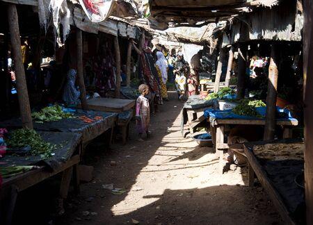 bamako: Bamako, Mali - February 15, 2012: Fruit and vegetable market in Bamako, Mali