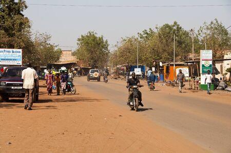 Bamako, Mali - February 15, 2012: A street of Bamako, Mali