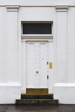White door in London, UK Stock Photo - 13250961