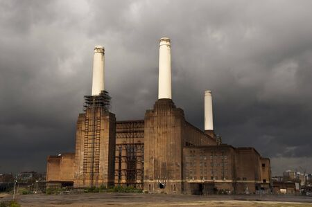 battersea: Battersea power station in London, England, UK Editorial