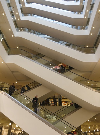London, UK, April 15, 2012: Peter Jones department store located on Sloane square