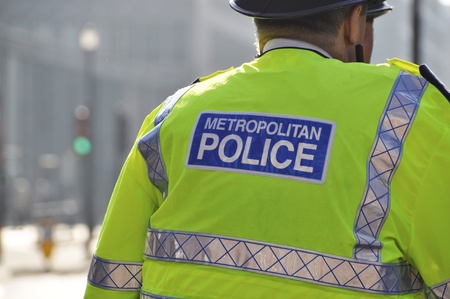 Metropolitan police officer in London, England, UK photo