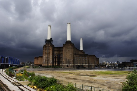 Battersea power plant in London, UK