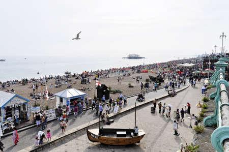 brighton beach: Brighton beach in summer, England, UK