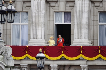 ii: LONDON, UK - June 16: The Royal Family appears on Buckingham Palace balcony during Trooping the Colour ceremony, on June 16, 2012 in London. Trooping the Colour takes place every year in June to officialy celebrate the sovereign birthday.
