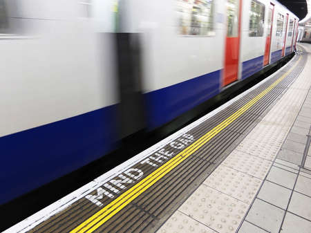 Mind the gap, warning in the London underground Stock Photo - 14420277